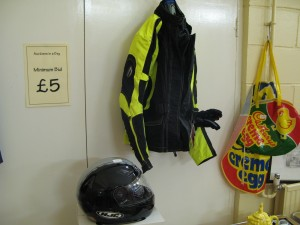 Lot 271 - New Motorcycle Helmet, Jacket and Gloves - Sold for £45