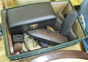 Lot 365 - Box of lunettes, spectacles and other optical items - Sold for £300