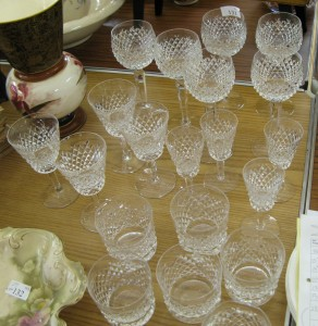 Lot 131 - Collection of cut glass glasses, some Waterford - Sold for £135