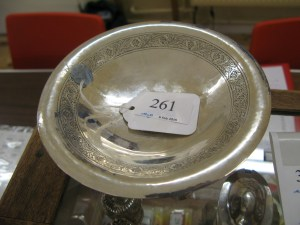 Lot 261 - Hallmarked George V silver jubilee bowl - Sold for £65
