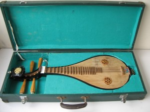 Liuqin – a Chinese four string mandolin in its case