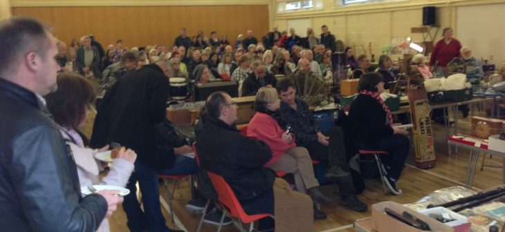 Full Auction Room at Badger Farm Community Centre
