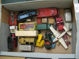 Lot 51 - Collection of Corgi and Dinky vehicles - Sold for £40