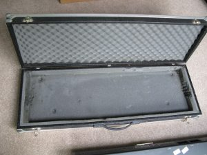 Keyboard Flight Case – Very solid. Was used for the Roland keyboard. Internal dimensions 106.5cm x 34.5cm x 11cm to the case not the foam. Some of the foam is disintegrating.