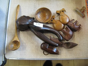 Lot 131 - Collection of Wooden Items - Sold for £50