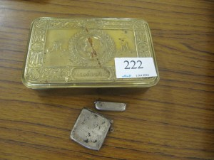 Lot 222 - Queen Mary WW1 Tin - Sold for £25