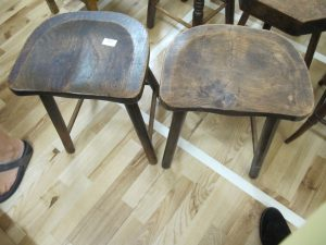 Lot 282 - Two kitchen stools - Sold for £25