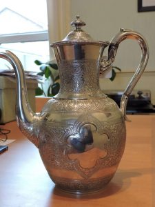 Lot 227 - Coffee Pot Edinburgh 1879 Marshall & Sons approx. 743.6 grams - Sold for £170