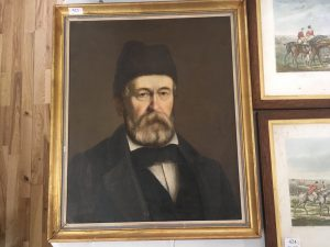 Lot 410 - Oil Painting of Polish Refugee dated 1832 - Sold for £110