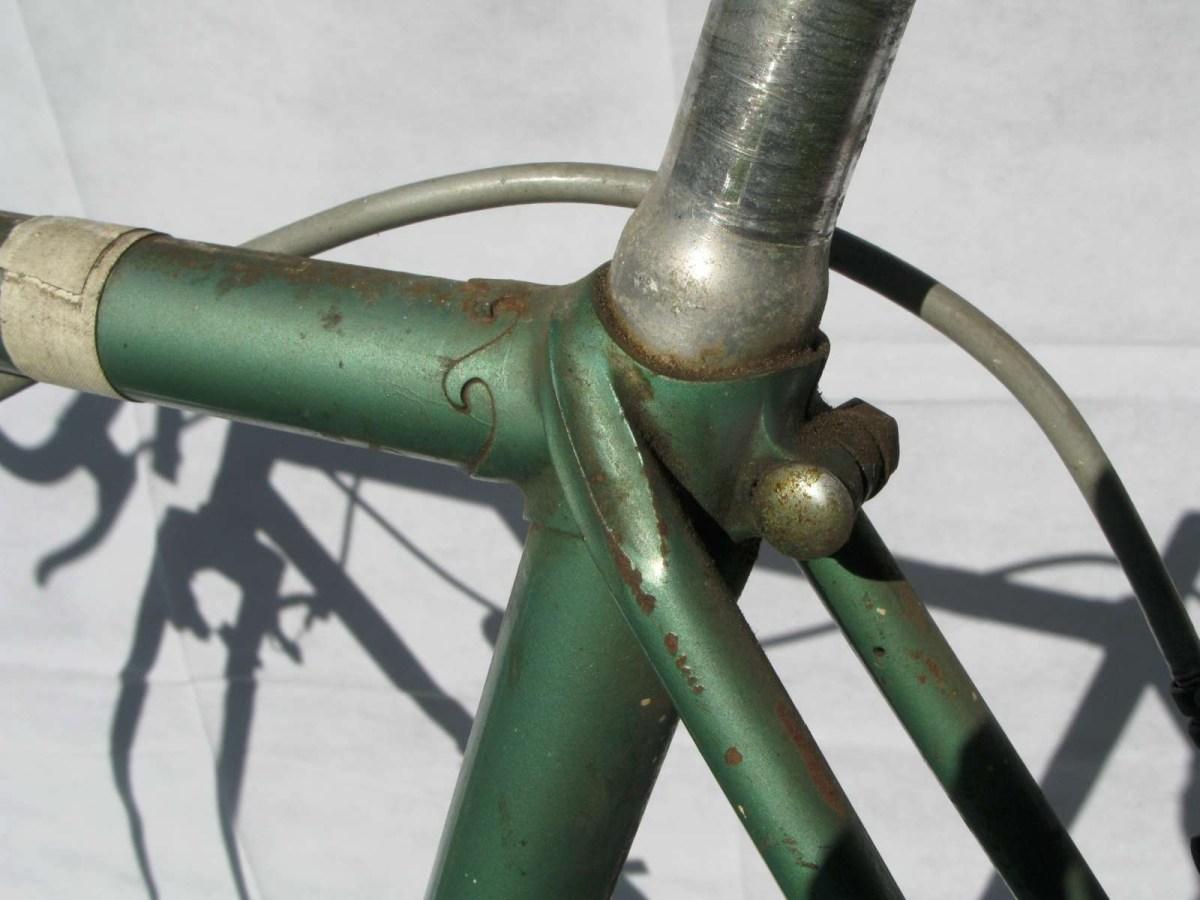 A S Gillott frame seat tube lugs