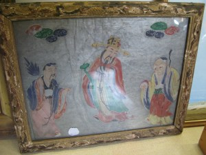 Lot 420 - Chinese or Japanese framed printSold for £48