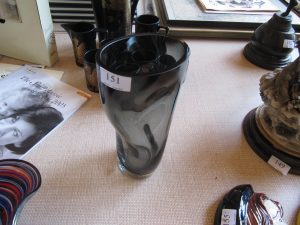 Lot 151 - Dark glass vase - Sold for £35