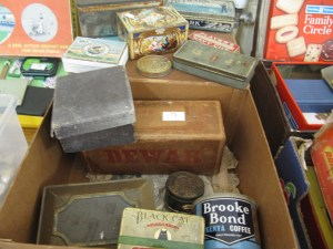 Lot 73 - Old branded tins and boxes - Sold for £30