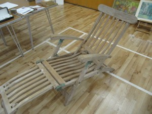 Lot 131a -Steamer chair - Sold for £30