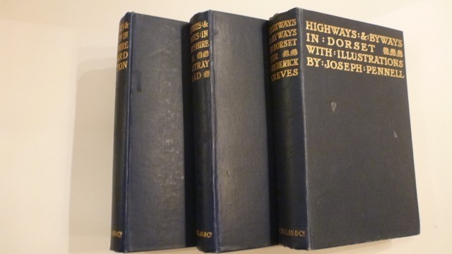 """3 Volumes - """"Highways and Byways in Hampshire"""" -1928, Dorset - 1926 and Wiltshire - 1928"""