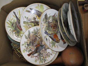 Lot 70 - Box of plates and other items - Sold for £100