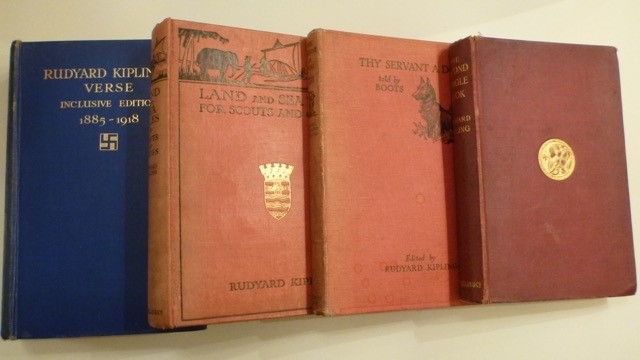 "4 Volumes of Rudyard Kipling - ""The Second Jungle Book"" (1915 Edn), ""Thy Servant a Dog"" (1937 Edn), ""Land and Sea Tales for Scouts and Guides"" (1923) and ""Rudyard Kiplings Verse 1885 - 1918"" (First Edn)"