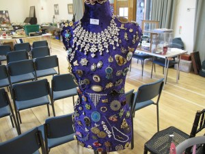 Lot 159 - Mannequin dressed with costume jewellery - Sold for £55