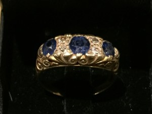Sapphire Diamond gold ring. Estimate £200-£300