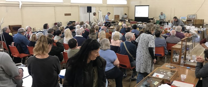 Auction at Badger Farm Community Centre 4th May 2019