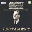 Klemperer = MOZART: Symphony No. 40; BRUCKNER: Symphony No. 7 – New Philharmonia Orch./ Otto Klemperer – Testament (2 CDs)
