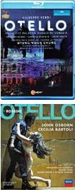 VERDI: Otello (complete opera), Blu-ray (2014)  ROSSINI: Otello (complete opera) (2014)