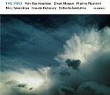 """Tre Voci"" = TAKEMITSU: And then I knew 'twas wind; DEBUSSY; Sonata for flute, viola and harp; GUBAIDULINA: Garten von Freuden und Traurigkeiten – Marina Piccinini, flute/Kim Kashkashian, viola/Sivan Magen, harp – ECM New Series"