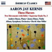 KERNIS: Three Flavors, Two Movements, Ballad(e) out of the Blue(s) – Superstar Etude No. 3—Andrew Russo, p.—James Ehnes, v.—Albany Sym. Orch./ David Alan Miller—Naxos