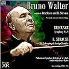 BRUCKNER: Symphony No. 9 in d minor; R. STRAUSS: Till Eulenspiegel's Merry Pranks, Op. 28 – Philharmonic Sym. of New York/ Bruno Walter – Pristine