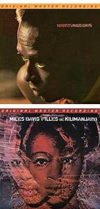 Nefertiti – Miles Davis Q. – Columbia/Mobile Fidelity 45 rpm vinyl + Filles de Kilimanjaro – Miles Davis Q. – Columbia/Mobile Fidelity 45 rpm vinyl