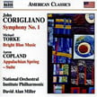 CORIGLIANO: Sym. No. 1; TORKE: Bright Blue Music; COPLAND: Appalachian Spring suite – Nat. Orch. Institute Phil./ David Alan Miller – Naxos