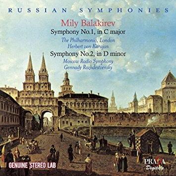BALAKIREV: Symphony No. 1 & No. 2 – Phil. Orch. of London/ Herbert von Karajan/ Moscow Radio Symph./ Gennady Rozhdestevensky – Praga Digitals
