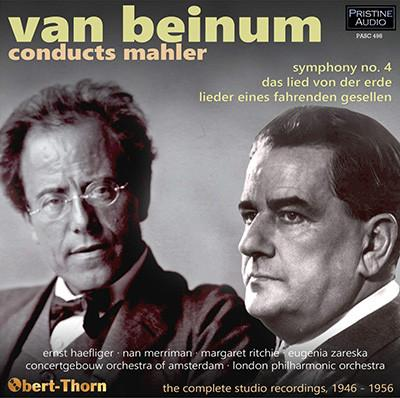 Van Beinum conducts MAHLER = Lieder eines fahrenden Gesellen; Symphony No. 4 in G Major; Das Lied von der Erde – London Philharmonic Orchestra, Concertgebouw Orchestra of Amsterdam/ Eduard van Beinum – Pristine Audio