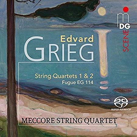 GRIEG: String Quartets 1 & 2 – Meccore String Quartet – MDG