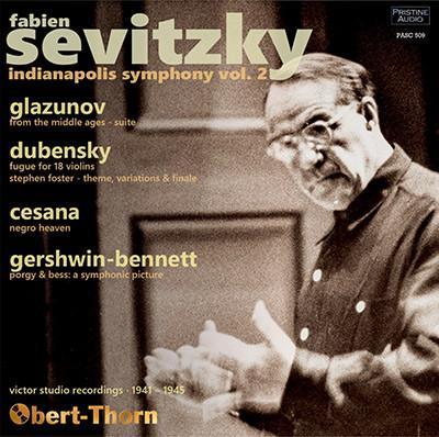Fabien Sevitzky Vol. 2 = Symphonic Works by GLAZUNOV; DUBENSKY; CESANA; GERSHWIN – Indianapolis Symphony Orchestra/ Fabien Sevitzky – Pristine