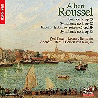 Albert ROUSSEL: Symphonies, Suites – Paul Paray/ Leonard Bernstein/Andre Cluytens/Herbert von Karajan – Praga Digitals