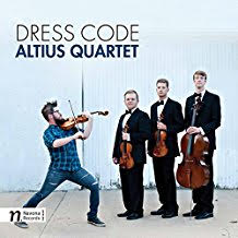 "Altius Quartet: ""Dress Code"" = Haydn Quartet in C major Op.74 No.3; Bolcom Three Rags; Arrangements of Dave Brubeck, Led Zeppelin, Ben E. King, and a-ha – Altius Quartet – Navona Records"