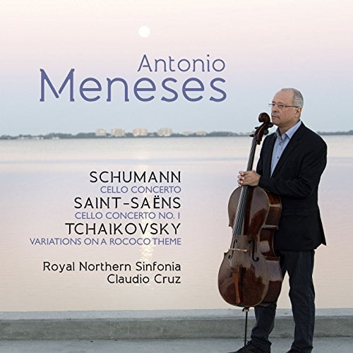 SCHUMANN: Cello Concerto; SAINT-SAENS: Cello Concerto No. 1; TCHAIKOVSKY: Rococo Variations – Antonio Meneses, cello/ Royal Northern Sinfonia/ Claudio Cruz – Avie