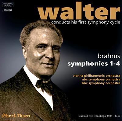 BRAHMS: Complete Symphonies – Vienna Philharmonic/ NBC Symphony Orchestra/ BBC Symphony Orchestra/ Bruno Walter – Pristine Audio