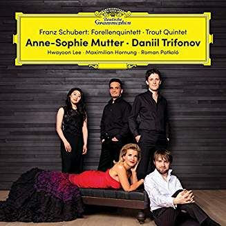 "SCHUBERT: Piano Quintet in A, ""Trout"" – Anne-Sophie Mutter, violin/ Daniil Trifonov, piano/ Hwayoon Lee, viola/ Maximilian Hornung, cello/ Roman Patkolo, bass – DG"