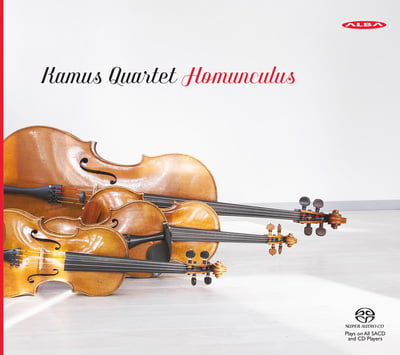 Homunculus / Kamus Quartet – Composer: Esa-Pekka Salonen, György Ligeti, Benjamin Britten –Kamus String Quartet – Alba Records