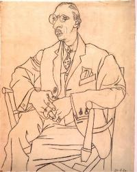 Portrait of Igor Stravinsky, by Pablo Picasso