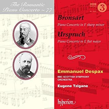 The Romantic Piano Concerto, Vol. 77 — works by SCHELLENDORF, URSPRUCH – Emmanuel Despax, piano – Hyperion