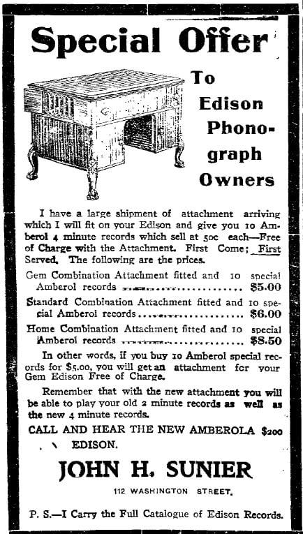 5/2/1910 Iowa City Press-Citizen newspaper ad: Phonograph