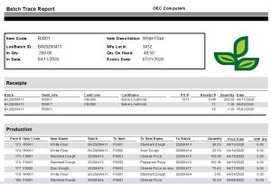 Batch traceability for SAP B1