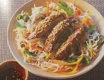 Bavette à la chinoise (4 personnes)