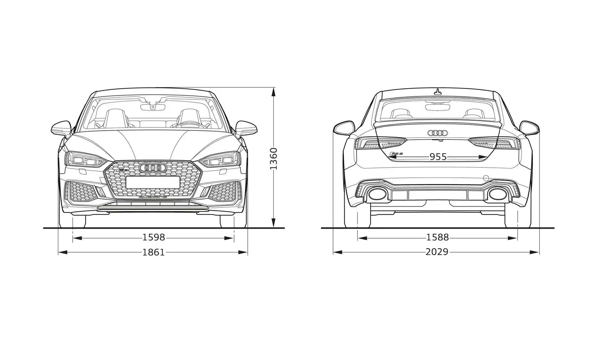 Audi Rs5 Dimensions Gt Audi Rs5 Coupe Gt Audi Models