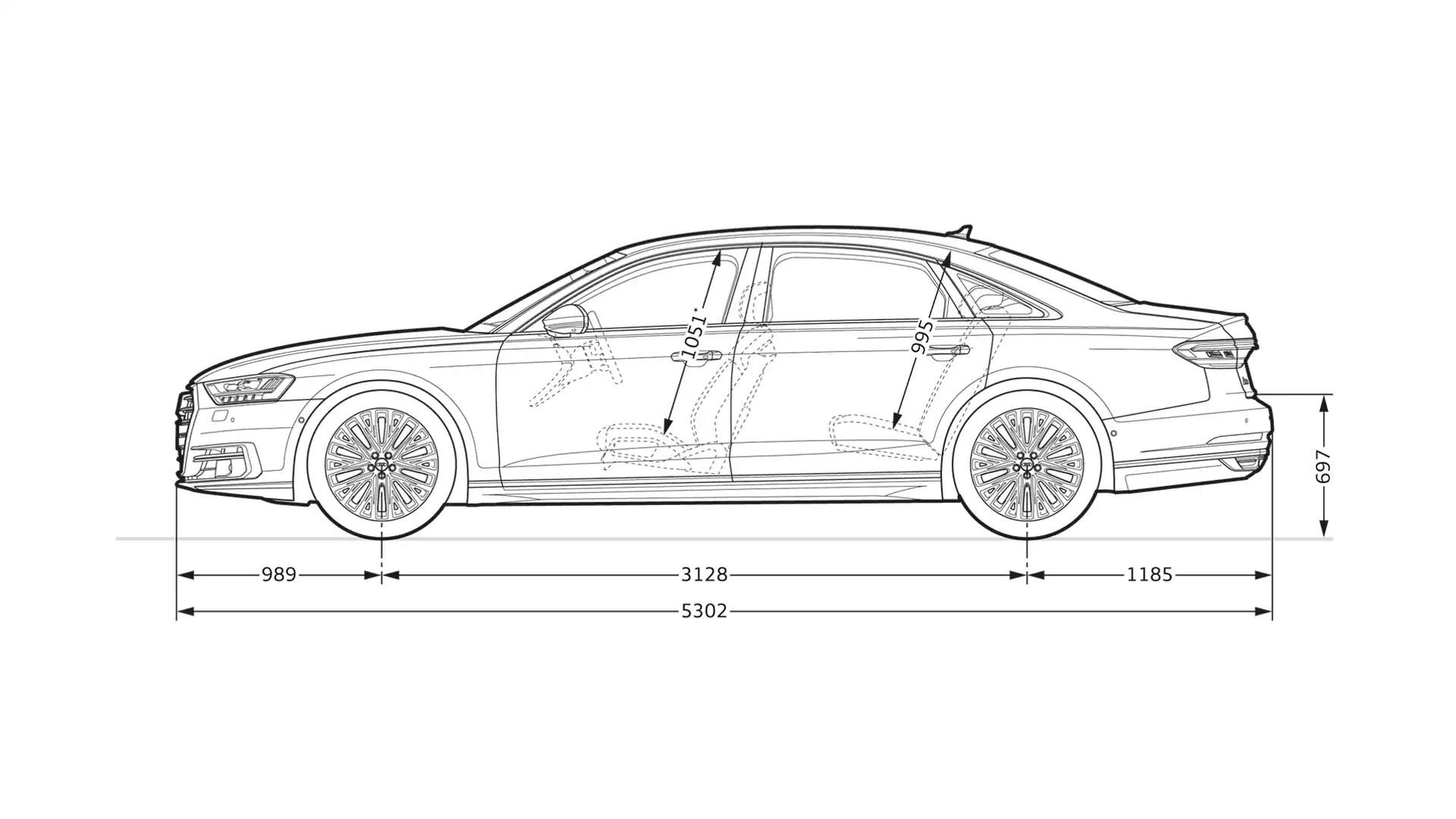 Abmessungen Gt A8 L Gt A8 Gt Audi Deutschland