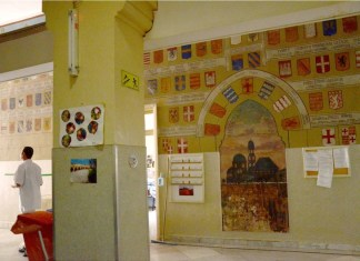 Saint-Louis Hospiz - Faszinierende Wandbilder aus der Zeit der Kreuzzüge in Jerusalem entdeckt .