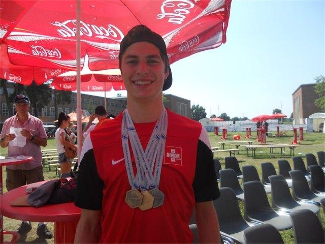 Der 21 jährige Squashspieler Alex Imhof aus dem Schweizer Team. Foto Sabrina Goldemann
